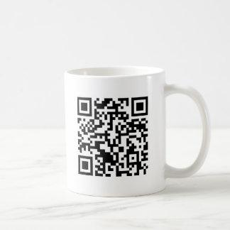 Código Rickrolled del rollo QR de Rick Taza De Café