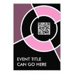 código rosado de la diana QR Invitación 8,9 X 12,7 Cm