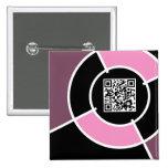 código rosado de la diana QR Pins