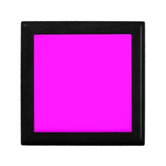 Código rosado de neón FF00FF del maleficio Cajas De Recuerdo