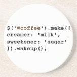 Código rubio y dulce del café del Javascript Posavasos Diseño