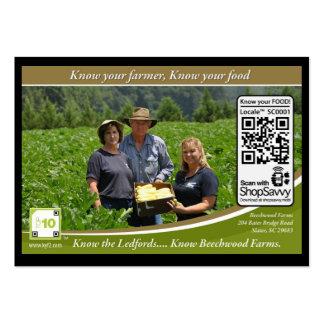 Código Shelftalker detectable de QR para la granja Plantilla De Tarjeta Personal