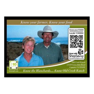 Código Shelftalker detectable de QR para la granja Tarjeta De Negocio