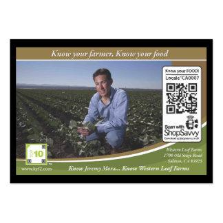 Código Shelftalker detectable (granja independient Plantilla De Tarjeta Personal