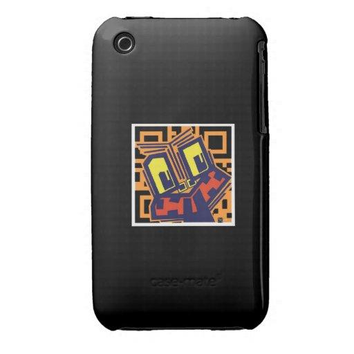 Código Tiki de QR iPhone 3 Case-Mate Cárcasas