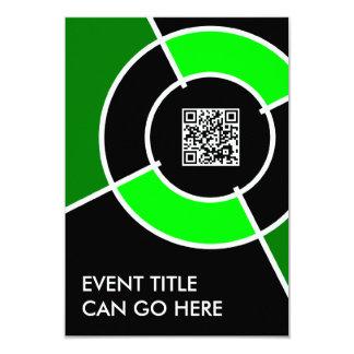 """código verde de la diana QR Invitación 3.5"""" X 5"""""""