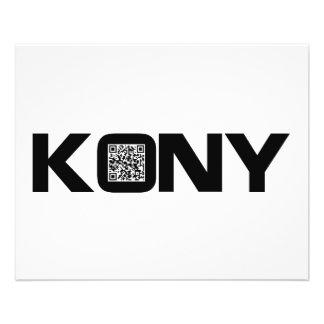 "Código video José Kony de Kony 2012 QR Folleto 4.5"" X 5.6"""