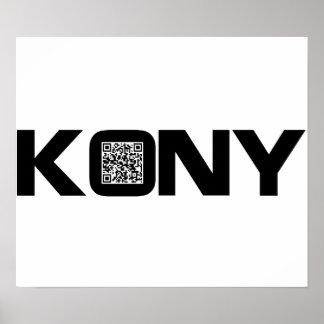 Código video José Kony de Kony 2012 QR Impresiones