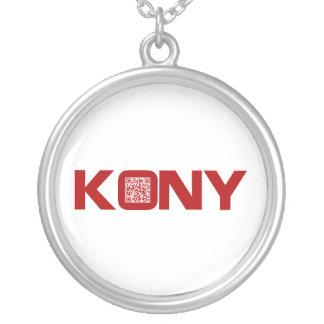 Código video José Kony del rojo QR de Kony 2012 Colgante Redondo