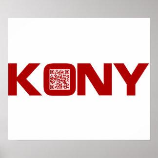 Código video José Kony del rojo QR de Kony 2012 Posters