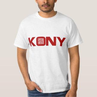 Código video José Kony del rojo QR de Kony 2012 Polera