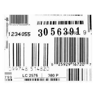 Códigos de barras tarjeta postal