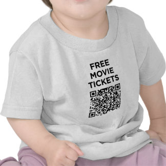 Códigos inútiles de QR: Boletos de la película Camiseta