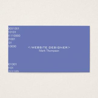 Coding Blue Purple Background Business Card