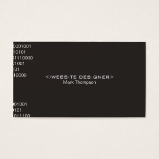 Coding Brown Background Business Card