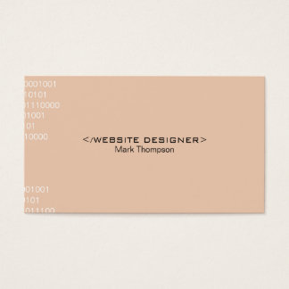 Coding Business Card