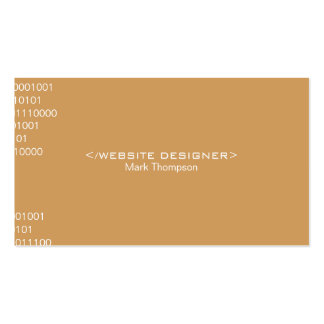 Coding Deep Tan Background Business Card