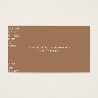 Coding (french beige) business card