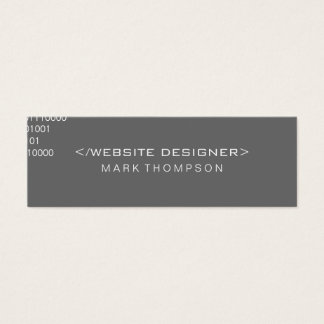 Coding Mini Business Card