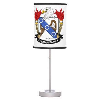 Codman Family Crest Table Lamp