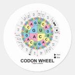 Codon Wheel (RNA Codons Amino Acids) Classic Round Sticker