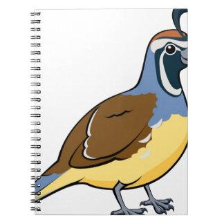 Codornices de California del dibujo animado Cuaderno