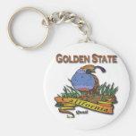 Codornices del Golden State de California Llavero