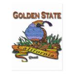 Codornices del Golden State de California Postal