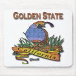 Codornices del Golden State de California Tapetes De Ratones