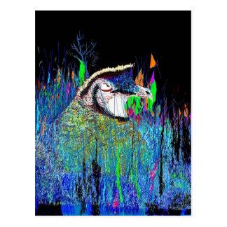 Codornices en la noche tarjetas postales