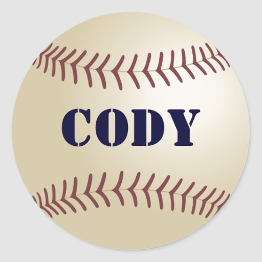Cody Baseball Sticker / Seal