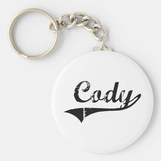 Cody Classic Style Name Keychain