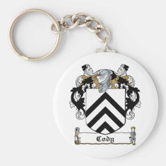 Cody Family Crest Basic Round Button Keychain