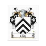 Cody Family Crest Stretched Canvas Print