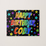 "[ Thumbnail: ""Cody"" First Name, Fun ""Happy Birthday"" Jigsaw Puzzle ]"