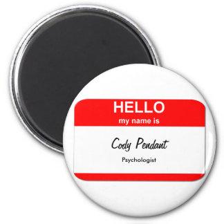 Cody Pendant 2 Inch Round Magnet
