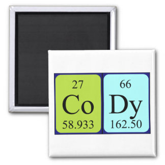 Cody periodic table name magnet