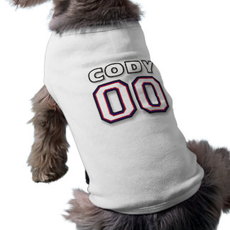 Cody - Sports Jersey 00 - Pet Dog T-Shirt