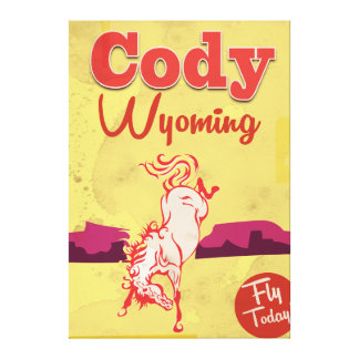 Cody Wyoming vintage travel poster Canvas Print