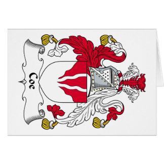 Coe Family Crest Card