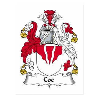 Coe Family Crest Postcard