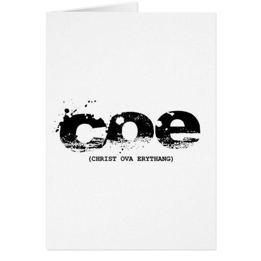 COE (w) Tarjeton