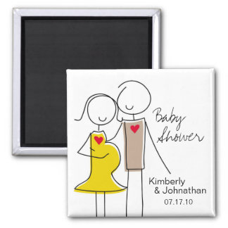 Coed Baby Shower Magnet Favors