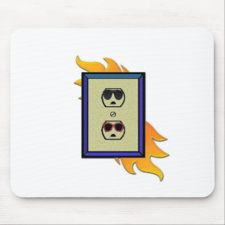 coed electric outlet mouse pad