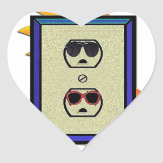 coed electric outlet heart sticker
