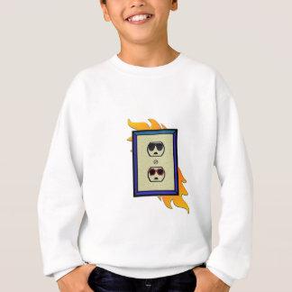 coed electric outlet sweatshirt