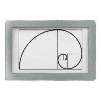 Coeficiente de Fibonacci Hebillas De Cinturon Rectangulares