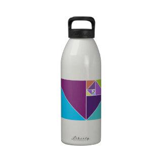 Coeficiente de oro (colores brillantes) botellas de agua reutilizables