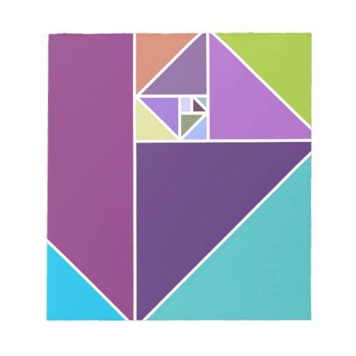 Coeficiente de oro (colores brillantes) bloc