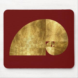 Coeficiente de oro, espiral de Fibonacci Alfombrilla De Ratones